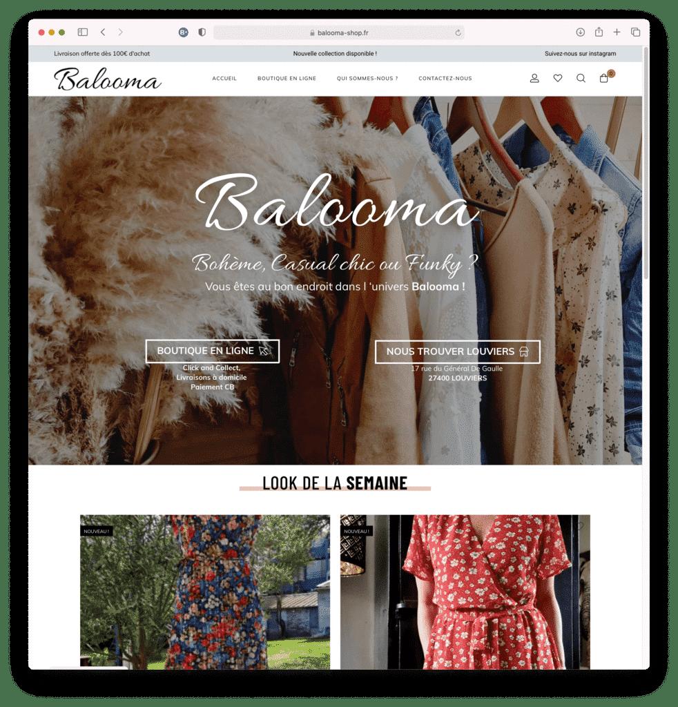 Balooma, boutique de prêt à porter féminin à LOUVIERS (27), réalisation Agence IDEO