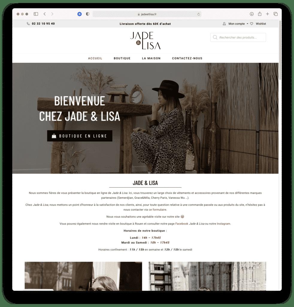 Jade & Lisa, boutique de prêt à porter féminin à ROUEN (76), réalisation Agence IDEO
