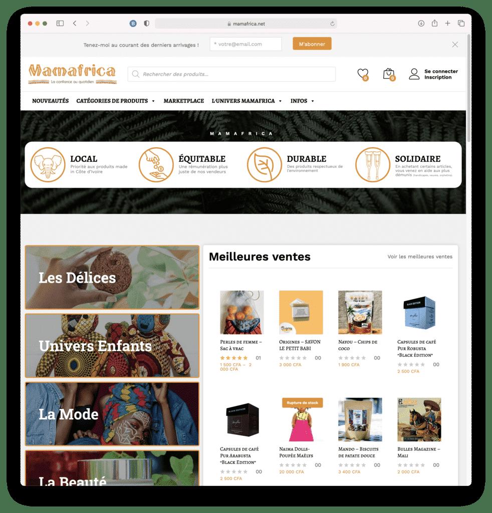 Mamafrica, plateformes de services à ABIDJAN (CI), réalisation Agence IDEO