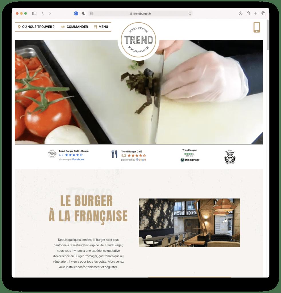 Trend Burger, restaurant de burger à ROUEN (76), réalisation Agence IDEO